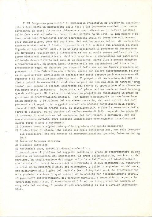 VI Congresso provinciale D.P. p1